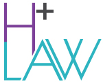 H Plus Law logo